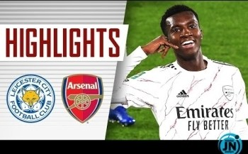 [Highlights] Leicester City vs Arsenal (0-2) - Carabao Cup